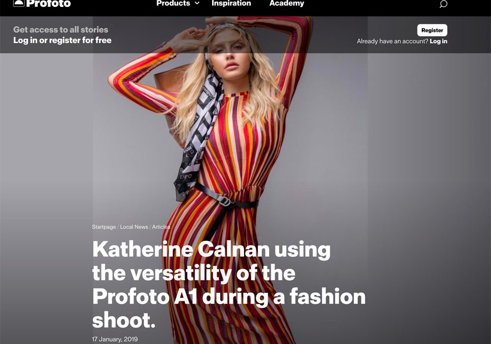Katherine Calnan and Profoto Lighting Article